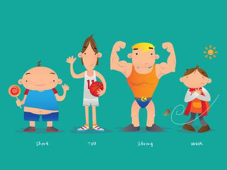 thin man: Corto y alto, fuerte y d�bil