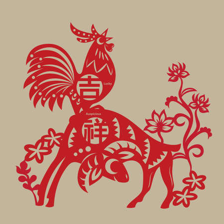 cutting: In China, Rooster and Ram are considered as lucky symbols because of their implied meaning. The Rooster has same pronunciation as Lucky in Chinese.