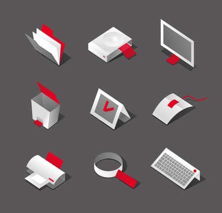 Stylish desktop graphic icons