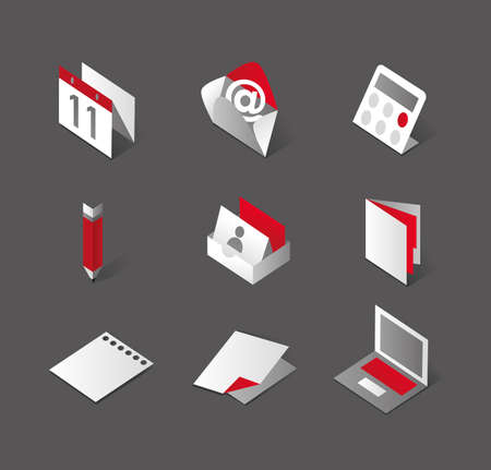 note pc: Stylish desktop graphic icons