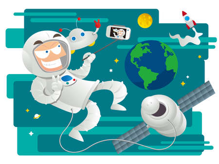 loves: Astronaut loves selfie too!