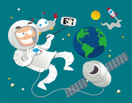 Astronaut loves selfie too!