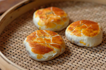 Sweetheart cake (wife cake) is a popular traditional Cantonese flaky pastry, which made with a fill of winter melon, almond paste, and sesame.