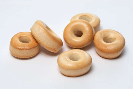 Life Buoy-Shape Biscuit, a featured round biscuit with a hollow centre, is a popular vintage snack in old Hong kong Imagens
