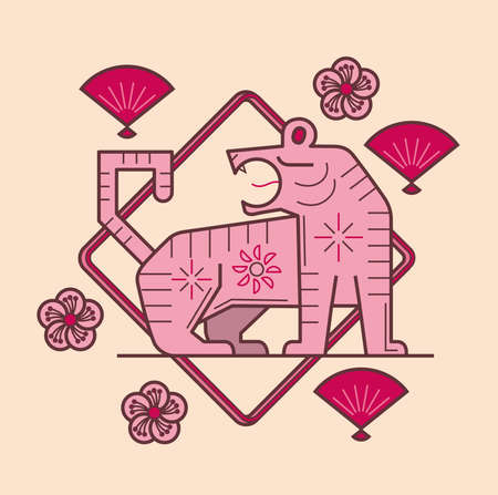 Simple graphic of Chinese zodiac tiger