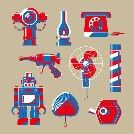 Graphic illustration of Hong Kong nostalgic stuffs