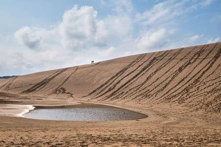 Sand dunes at Tottori, Japan.
