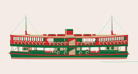 Grafik der Hongkong-Fähre.