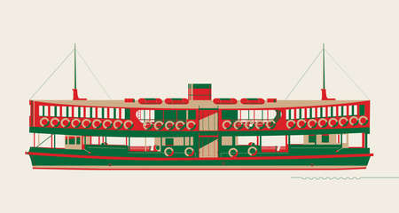 Graphic of Hong Kong ferry.