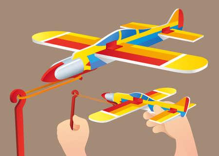 Nostalgic toy: Foam plane