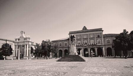 rimini: View of the square Ganganelli Santarcangelo di Romagna to Rimini
