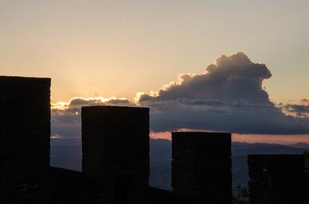 sammarinese: Sunrise in San Marino Archivio Fotografico