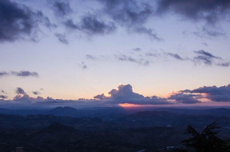 san marino: Sunrise in San Marino Stock Photo