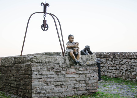 antiquated: Antiquated sculpture in Malatesta fortress of Verucchio