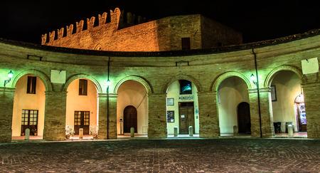 central square: Central square of Mondaino (Rimini). Editorial