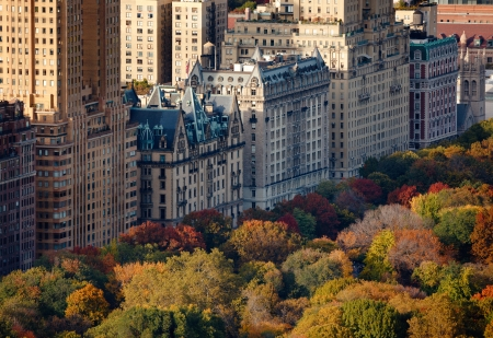 Afternoon light on Central Park, Manhattan Stock Photo