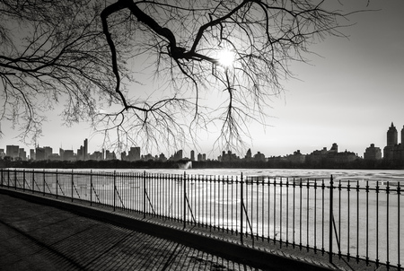 Black and White photograph of New York in winter
