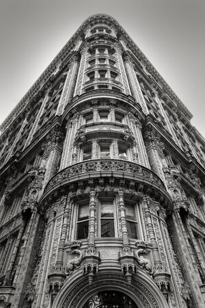 Magnificent architectural ornaments on a building