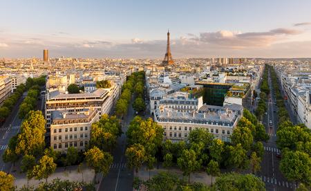 d'eiffel: Paris from above showcasing the capital city