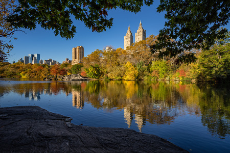Fall in Central Park at the Lake, New York City