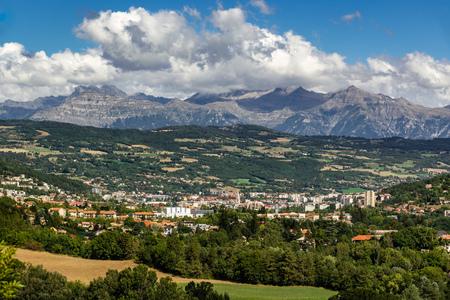 갭, 여름에 Hautes 알프스입니다. 프랑스 알프스, 프랑스 스톡 콘텐츠