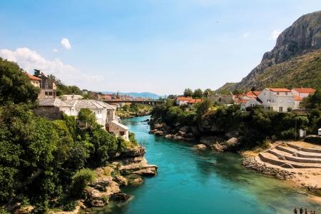 mostar: BOSNIA - Mostar, View Stock Photo