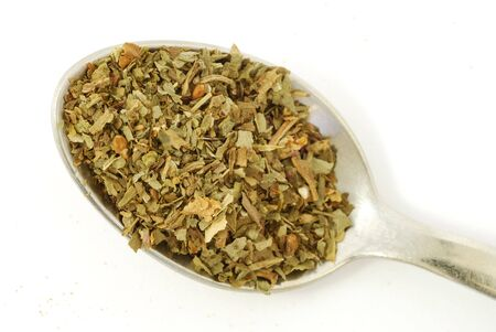 Herbs and spices - dried basil Stock Photo