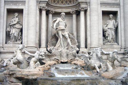 m�nzenwerfen: Einen Einblick in den Trevi-Brunnen in Rom