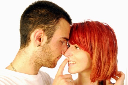A young couple in a loving attitude photo