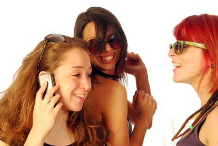 Three women friends full of happiness and joy Stock Photo - 10816826