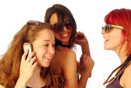 Three women friends full of happiness and joy Stock Photo - 10816826