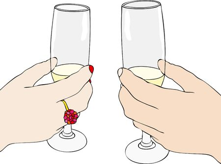 A Toast Happy Happy New Year And Happy Holidays Stock Photo, Picture ...