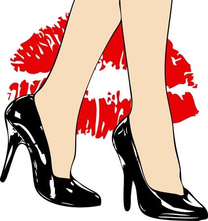 I love black High Heels Stock Photo - 12013315