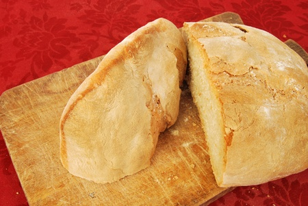 soft sell: Bread made at home - From wheat to bread made at home Stock Photo