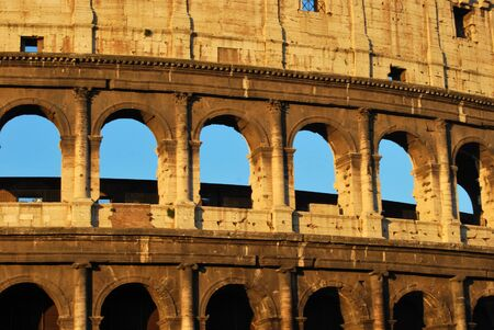 A striking image of the Coliseum of Rome at dawn Stock Photo - 12715389