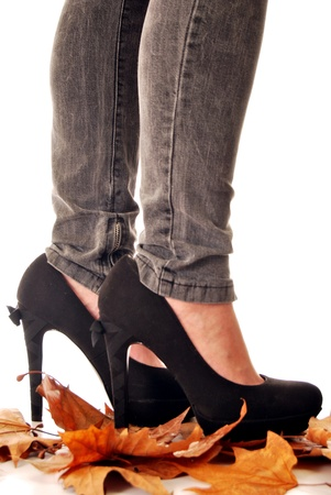 Jeans and high heels 011 photo