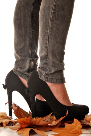 Jeans and high heels 012 photo