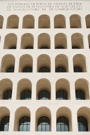 Rome EUR  Palace of Civilization 017  - Rome - Italy - Among fascist architecture and modern architecture Stock Photo - 13824688