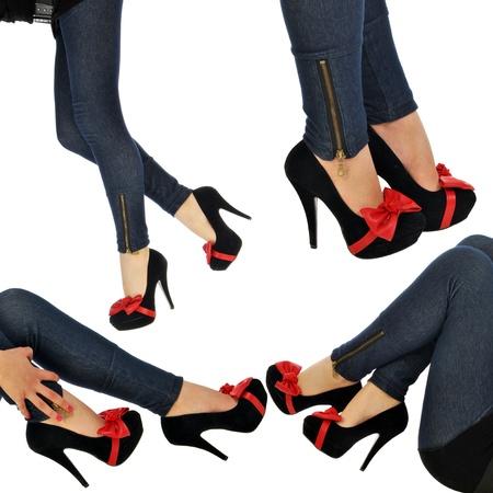 piernas con tacones: Una mujer con las piernas muy sexy y zapatos sexy