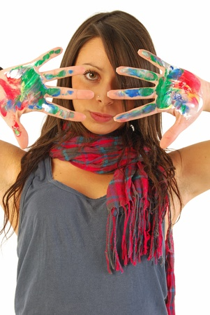 The graphics is woman 148 Stock Photo - 13500993