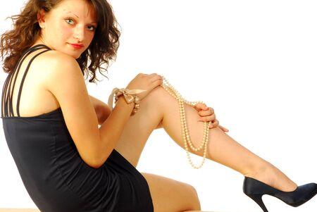 Sexy brunette woman in elegant evening dress Stock Photo - 13649947