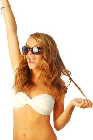 Exuberant girl - a exuberant girl shows all of its energy 176 Stock Photo - 14268856