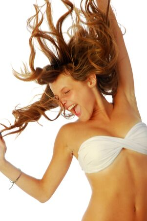 Exuberant girl - a exuberant girl shows all of its energy 301 photo