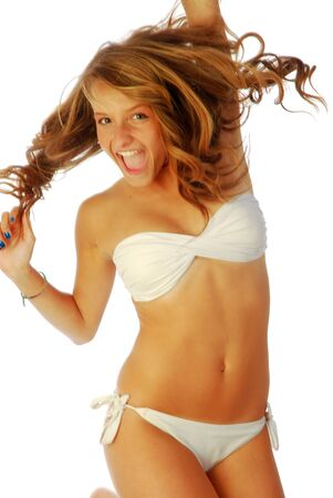 Exuberant girl - a exuberant girl shows all of its energy 302