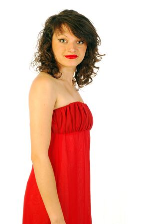 Woman in elegant red dress Stock Photo - 14875767