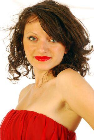 Woman in elegant red dress Stock Photo - 14875777