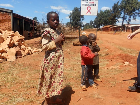 Franciscan Mission in Tanzania near the village Pomerini kind to help children and families affected by AIDS           Editorial