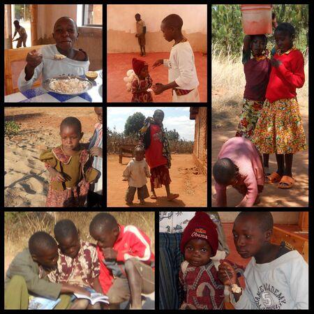 ni�os pobres: Misi�n Franciscana en Tanzania, cerca de la aldea Pomerini tipo para ayudar a ni�os y familias afectadas por el SIDA