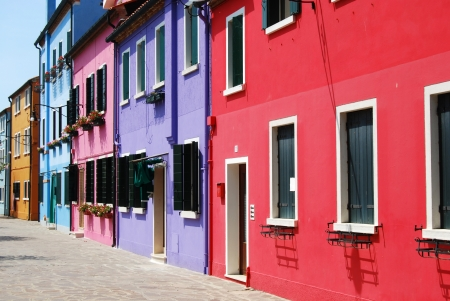 Homes of Burano - Venice - Italy 170 Stock Photo - 15088672