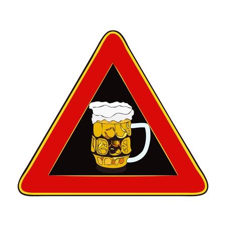 poner atencion: Atenci�n, Festival de la Cerveza en curso - Una se�al que le indica que debe prestar atenci�n a una fiesta de la cerveza en curso